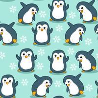 Seamless pingvinmönster.