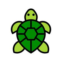 Schildkrötenvektor, tropische in Verbindung stehende gefüllte Artikone vektor