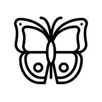 Butterfly vektor, tropisk relaterad linje stil ikon vektor