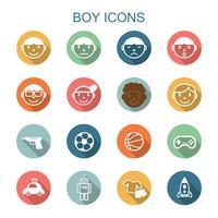pojke lång skugg ikoner