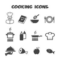 symbol för matlagning ikoner vektor