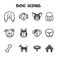 hund ikoner symbol vektor