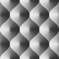 Abstraktes nahtloses Muster mit drei Maßen auf Vektorgrafik.