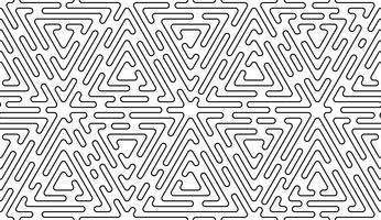 Monokrom doodle art deco abstrakt sömlös bakgrund med slaglinje. vektor