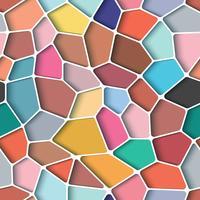 Buntes Design des Pentagonpolygons mit nahtlosem Hintergrund.