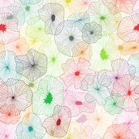 Nahtloser Hintergrund der Florenelemente auf Vektorkunst.