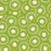 Kiwi bitar sömlös bakgrund. vektor