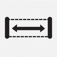 Bredd ikon design Illustration vektor