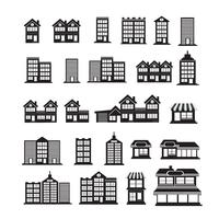 Immobilien Icons set vektor