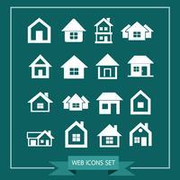 Haus Icon Immobilien Set für die Website vektor