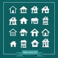 Hus Icon Fastigheter Set för hemsida vektor
