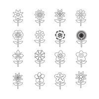 Blumen-Icon-Set für die Website