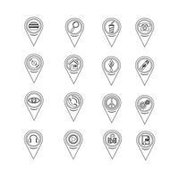 Satz Kartenzeigerikonen für Website und Kommunikation