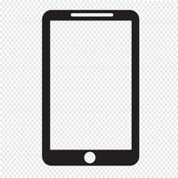 Smartphone-Symbol Symbol Zeichen vektor
