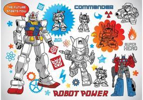 Roboter-Vektoren