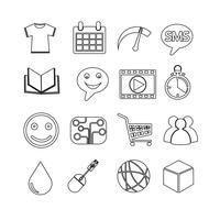 Reihe von Web-Icons für Website und Kommunikation vektor