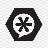 symbol för asterisk fotnotstecken