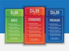 Preistabellen-Listenpaket vektor