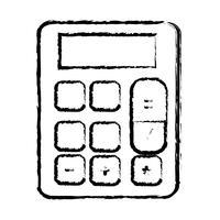 Abbildung Finanzrechner zur Buchhaltung von Geschäftsdaten vektor