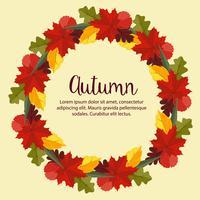 Herbst flache Natur Blätter Kranz