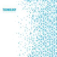 Abstraktes geometrisches weißes und blaues Oval oder Kreise kopieren Hintergrund und Beschaffenheit mit Kopienraum. Technologie-Stil. Mosaikgitter.