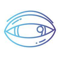 Linie menschliches Auge zum optischen Anblickikone vektor