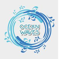 Ozeanwellen im Kreisformdesign