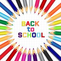 Tillbaka till skolan, Utbildningskoncept bakgrund med söta färgpennor