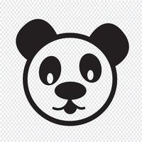Panda Icon Symbol Zeichen