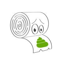 Toalettpapper Vektorillustration för T-shirt, Etiketter, flygblad