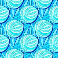 Tropiskt, randigt, djurmotiv. Seamless Line Pattern och Texture Of The Cod. Modern sommarblomma, blad på borstens abstrakta form. Tropisk vektor