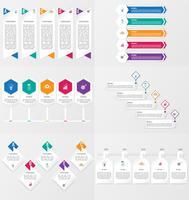 Sats med infografisk elementmall med alternativ.