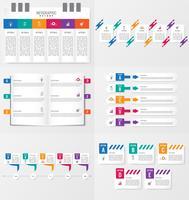 Satz von Infografiken Elementvorlage mit Optionen.