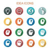 idé långa skugg ikoner