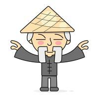 Qigong meditation östlig kropps helande praxis Vektor illustration