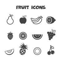 frukt ikoner symbol