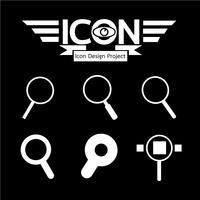 Sök Ikon symbol tecken vektor