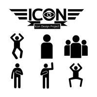 Menschen Symbol Symbol Zeichen