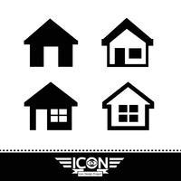 House icon symbol tecken vektor