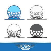 Golf ikon symbol tecken vektor