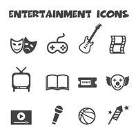 ikon för underhållning ikoner vektor