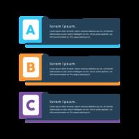 Färgglada kreativa utformade png vektor minimal banderoller