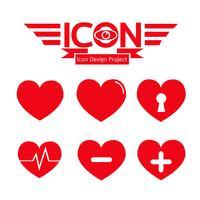 Hjärta ikon symbol tecken vektor
