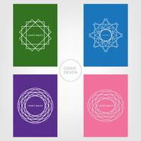 Abstraktes minimales Abdeckungs-Design. Bunter und geometrischer Hintergrund. Vektoren Illustrationen.