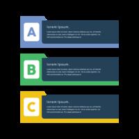 Kreativa färgglada minsta vektor png utformade banners
