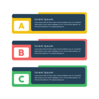 Kreativ koncept färgglada vektor png banderoller