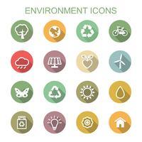 miljö långa skugg ikoner