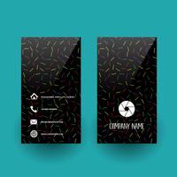 Visitkort med abstrakt mönster design