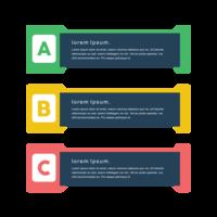 Designad minimal kreativ vektor färgglada png banderoller