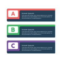 Minimal kreativ vektor png banners koncept